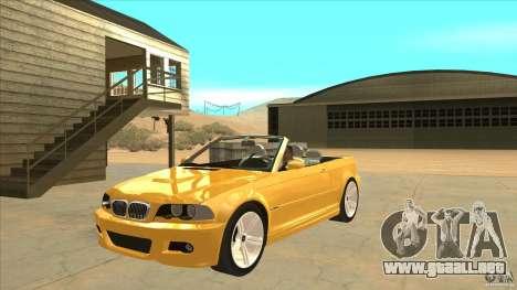 BMW E46 M3 Cabrio para GTA San Andreas