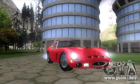 Ferrari 250 GTO 1962 para GTA San Andreas vista hacia atrás