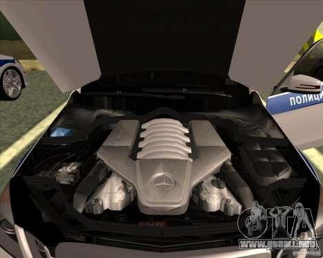 Mercedes-Benz E63 AMG W212 para visión interna GTA San Andreas