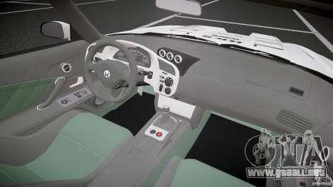 Calma Honda S2000 Tuning 2002 3 piel para GTA 4 vista hacia atrás
