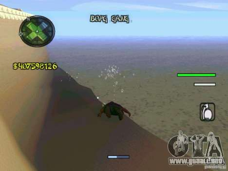 HUD Convenient and easy BETA para GTA San Andreas sucesivamente de pantalla