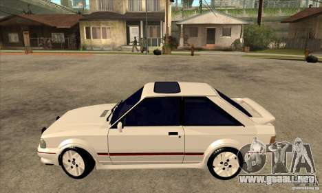 Ford Escort XR3 1992 para GTA San Andreas left