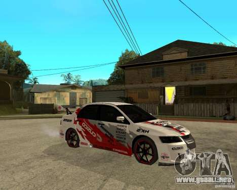 Lancer Evolution VIII, los estadounidenses inter para la visión correcta GTA San Andreas