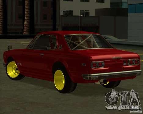 Nissan Skyline GTR 2000 para GTA San Andreas left