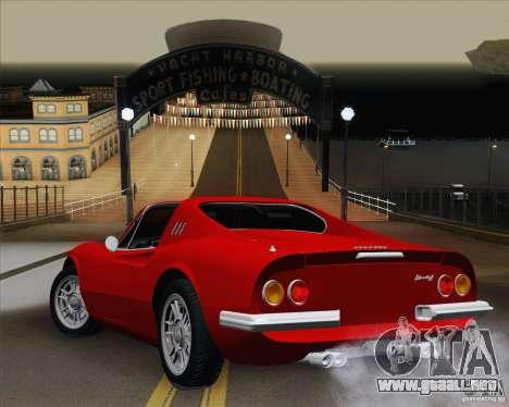 Ferrari 246 Dino GTS para GTA San Andreas left