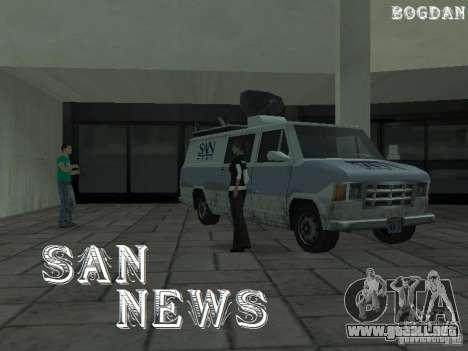 SFnews o la oportunidad de dar una entrevista para GTA San Andreas