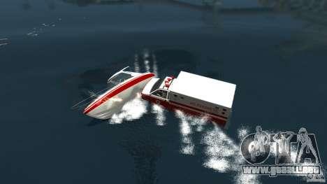 Ambulance boat para GTA 4 Vista posterior izquierda