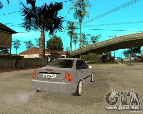 Ford Focus Sedan para GTA San Andreas vista posterior izquierda