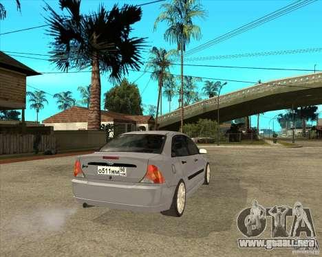 Ford Focus Sedan para GTA San Andreas vista posterior izquierda