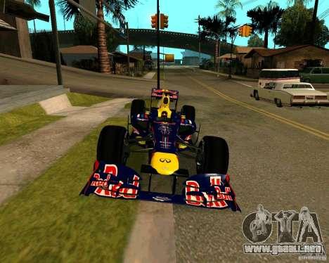 Red Bull RB8 F1 2012 para la visión correcta GTA San Andreas