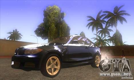 BMW 135i (E82) para GTA San Andreas vista hacia atrás