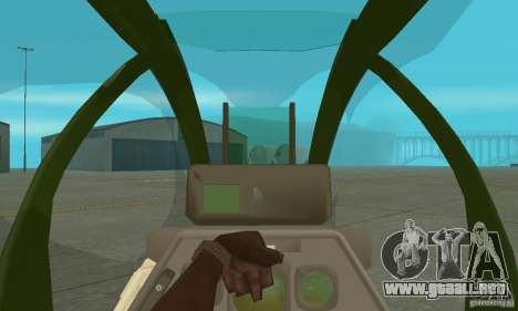 AH-1 super cobra para visión interna GTA San Andreas