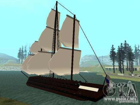 XVIII Century Battleship para GTA San Andreas vista posterior izquierda