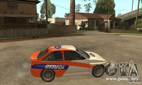 Ford Escort RS Cosworth para vista inferior GTA San Andreas