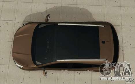 Hyundai ix35 para GTA San Andreas vista hacia atrás