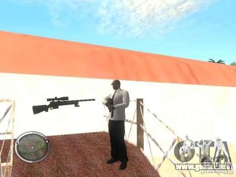 Sniper - Forest Camouflage para GTA San Andreas sucesivamente de pantalla