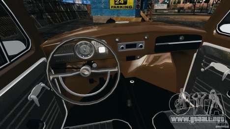Volkswagen Fusca Gran Luxo v2.0 para GTA 4 vista hacia atrás