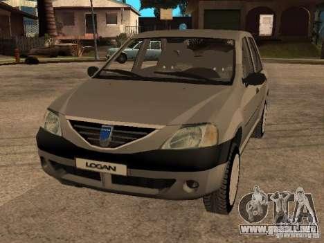Dacia Logan 1.6 para vista lateral GTA San Andreas