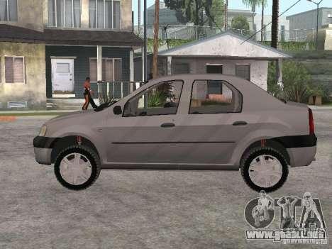 Dacia Logan 1.6 para GTA San Andreas vista posterior izquierda