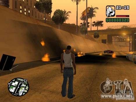 Kyubi-Bomb para GTA San Andreas segunda pantalla