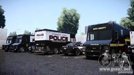 Boxville Police para GTA 4 visión correcta