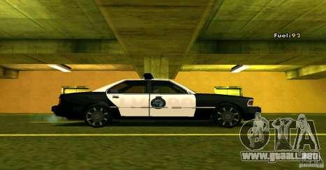 Sentinel Police LV para GTA San Andreas vista posterior izquierda