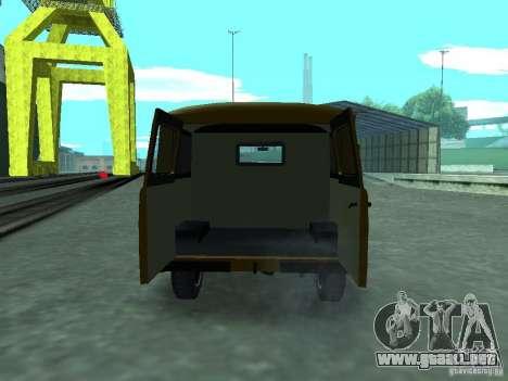 UAZ 3909 para visión interna GTA San Andreas