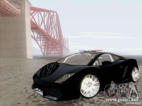 Lamborghini Gallardo LP-560 Police para GTA San Andreas
