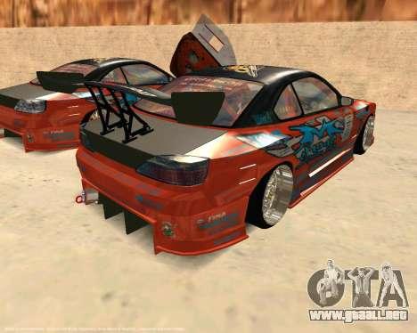 Nissan Silvia S15 Ms Sports para GTA San Andreas vista posterior izquierda