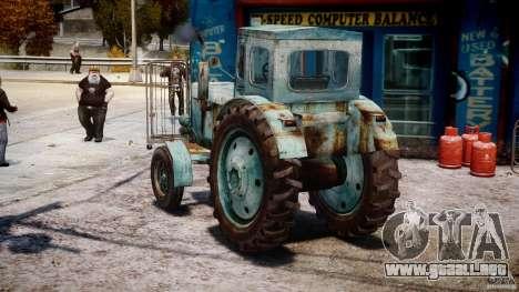 Tractor T-40 m para GTA 4 Vista posterior izquierda