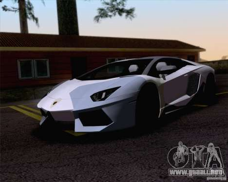 Trabajos de pintura Lamborghini Aventador LP700- para GTA San Andreas left