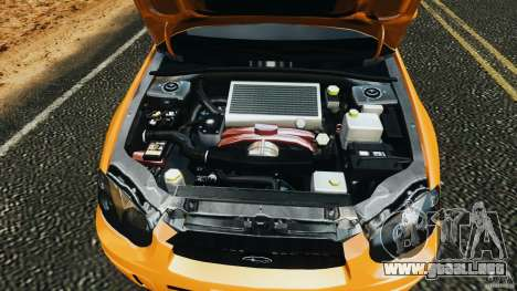 Subaru Impreza WRX STI 2005 para GTA 4 vista superior