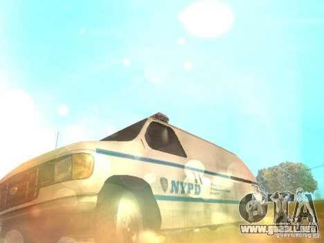 Ford E-150 NYPD Police para vista lateral GTA San Andreas
