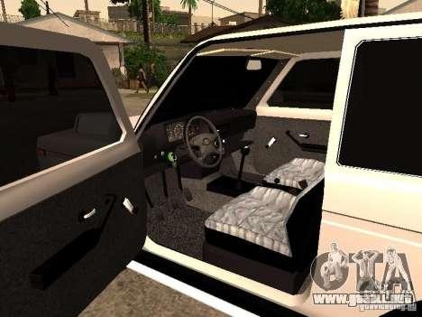 Armenian NIVA DORJAR 4 x 4 para GTA San Andreas vista hacia atrás