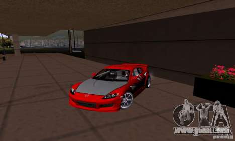 Mazda RX-8 Speed para GTA San Andreas left