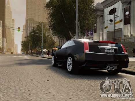 Cadillac CTS-V Coupe 2011 para GTA 4 Vista posterior izquierda