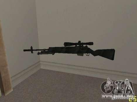 Armas de la COD MW 2 para GTA San Andreas quinta pantalla
