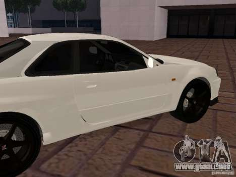 Nissan Skyline GT-R R34 Tunable para GTA San Andreas left