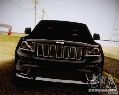 Jeep Grand Cherokee SRT-8 2012 para GTA San Andreas vista posterior izquierda