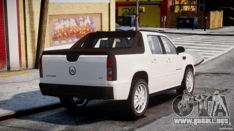 Cadillac Escalade Ext para GTA 4 Vista posterior izquierda