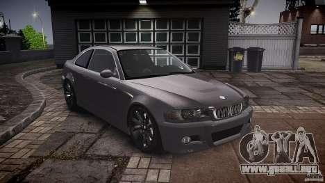 BMW 3 Series E46 v1.1 para GTA 4 vista hacia atrás