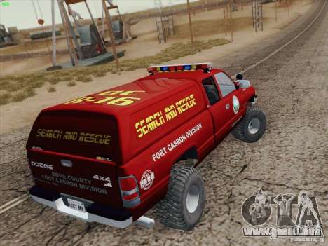 Dodge Ram 3500 Search & Rescue para el motor de GTA San Andreas