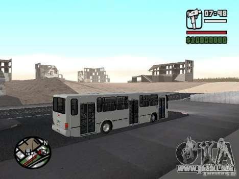 Busscar Urbanus SS Volvo B10M para GTA San Andreas vista hacia atrás