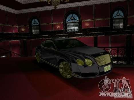 Bentley Continental GT para GTA Vice City visión correcta