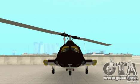Airwolf para GTA San Andreas vista hacia atrás