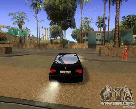 BMW 525i e39 para GTA San Andreas vista hacia atrás