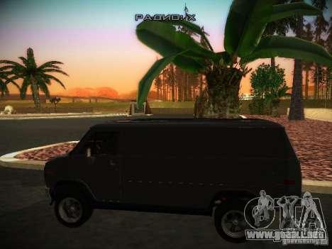 GMC Vandura para GTA San Andreas vista posterior izquierda