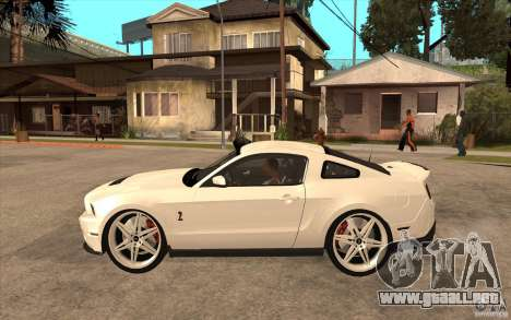 Ford Shelby GT500 para GTA San Andreas left