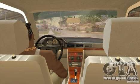 Mercedes-Benz 200D [W124] (1985) para la visión correcta GTA San Andreas