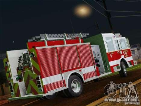 Pierce Pumpers. San Francisco Fire Departament para la vista superior GTA San Andreas